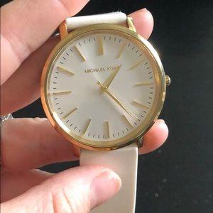 Gold & White Michael Kors Watch